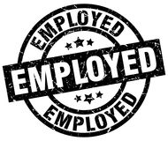 Employed stamp Royalty Free Stock Images