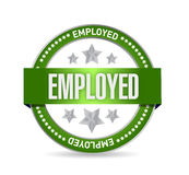 Employed Stamp seal illustration design Royalty Free Stock Photography