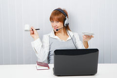 Employee assistance services online Royalty Free Stock Photo