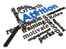 Employee attrition stock illustration