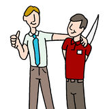 Employee backstabbing manager. An image of a employee backstabbing manager Stock Image