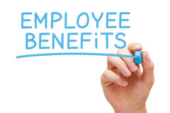 Employee Benefits Blue Marker Stock Photography
