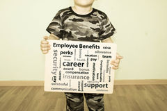 Employee benefits concept. Photo royalty free stock photo