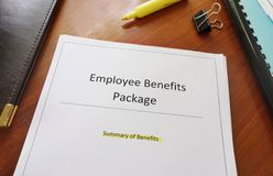 Employee Benefits Package Stock Images