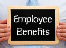 Employee benefits sign Royalty Free Stock Photos