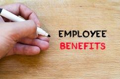 Employee benefits text concept Stock Photo