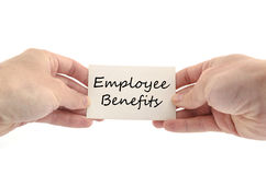 Employee benefits text concept Royalty Free Stock Photo