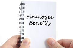 Employee benefits text concept Stock Photos