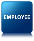 Employee blue square button Stock Photo