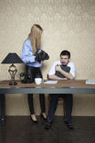Employee bullied by the employer Stock Photo