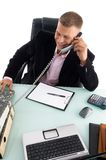 Employee Busy On Phone Royalty Free Stock Photography