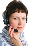 The employee of the call center Stock Photography