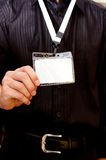 Employee card Stock Images