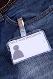 Employee card Stock Photos