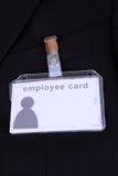Employee card Stock Photo