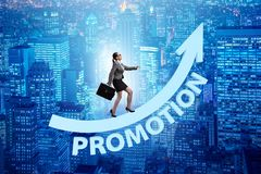 Employee in career promotion concept. The employee in career promotion concept royalty free stock photography