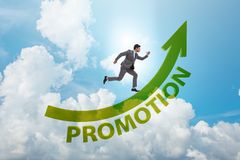 Employee in career promotion concept royalty free stock photo