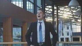 Employee Celebrating Success royalty free stock image