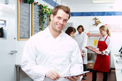 Employee checking inventory Stock Image