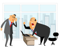 Employee and chief. Vector illustration of employee and chief Royalty Free Stock Photo