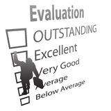 Employee Climbs Up Evaluation Improvement Form Stock Images