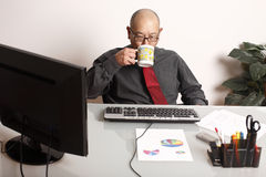 Employee with coffee Stock Photography