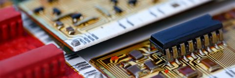 An employee computer repair service stock images