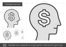 Employee cost line icon. Stock Photography