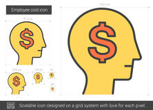 Employee cost line icon. Royalty Free Stock Photo