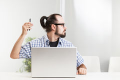 Employee did not answer. The phone Stock Photography
