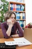 Employee dismissal at work Royalty Free Stock Photo