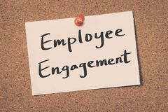 Employee Engagement. Concept reminder message on a cork board Royalty Free Stock Images