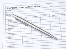 Employee Evaluation Form Stock Image