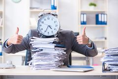 The employee failing to meet tax reporting deadlines. Employee failing to meet tax reporting deadlines Stock Photo