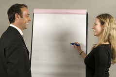 Employee Giving Presentation Royalty Free Stock Images