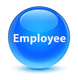 Employee glassy cyan blue round button Royalty Free Stock Photos