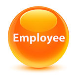 Employee glassy orange round button Royalty Free Stock Photography