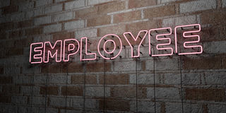 EMPLOYEE - Glowing Neon Sign on stonework wall - 3D rendered royalty free stock illustration Royalty Free Stock Image