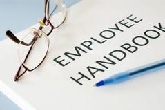 Employee handbook stock photography