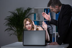 Employee and harassment in office Royalty Free Stock Images