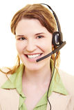 Employee with headset Royalty Free Stock Image