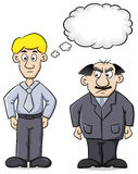 Employee and his distrustful boss Stock Image