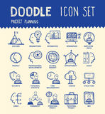 Employee icon set. Handmade ink pen line icons set of modern employee organisation, solution for hire process. Creative outline symbol collection. Simple doodle Royalty Free Stock Photo