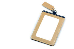 Employee ID Badge Leather Stock Photography