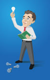 Employee and idea Royalty Free Stock Images