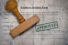 Employee incident form royalty free stock photography