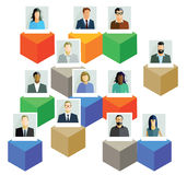 Employee information Stock Image