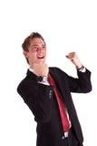 Employee jubilating Royalty Free Stock Images