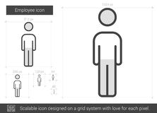 Employee line icon. Stock Images