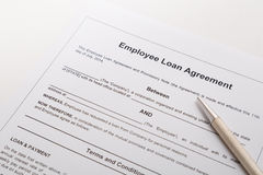 Employee loan agreement Stock Images